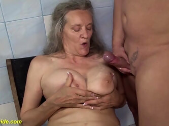 Extreme busty 83 years old mom tit fucked