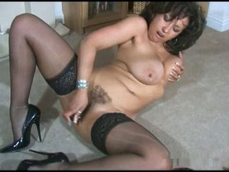 Hot British MILF Danica Collins teasing with vibrator