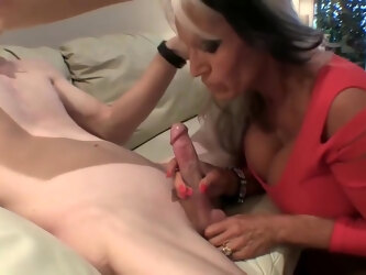 Big titted, elderly woman knows how to seduce and fuck every younger guy she likes