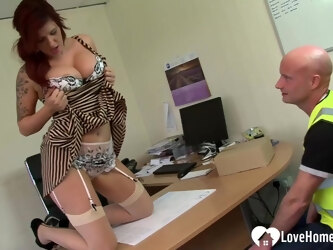 Redhead MILF is hungry a rock-solid cock