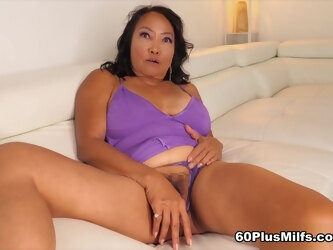 She's 70, She Has A Hairy Pussy And She's Getting Fucked - Mandy Thai And Brad Newman - 60PlusMilfs