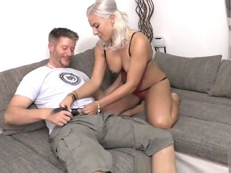 Horny Guy fucking hot Blonde Escort