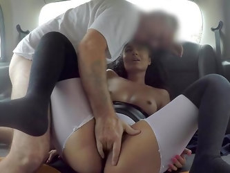 Back seat reality with the curvy ass babe riding fast