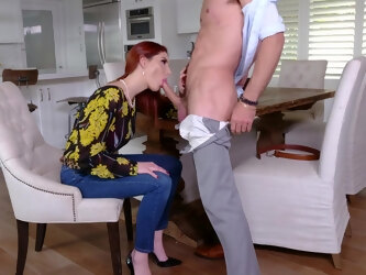Juicy big titty MILF with red hair Lilian Stone needs some hot fucking