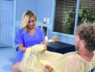 Spontaneous threesome action in the hospital with dirty nurse