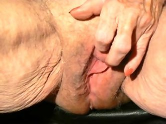 This bodacious old whore knows how to take care of her own orgasm. I could watch her rub that loose snatch all day. I have an exclusive taste for olde