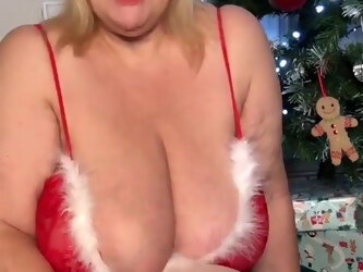 Granny Wishing all Hung Black cock a happy Creampie