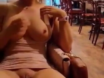 SHOWING PUSSY IN PUBLIC
