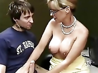 Teacher Milks a Student Hugh Cumshot WF