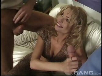Blonde wife Briana Banks double penetrated during crazy threesome