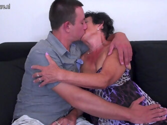 Horny Granny Having Fun With Her Toy Boy - MatureNL