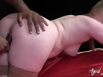 AgedLovE Big Black Cock Hard Rough Sex Action