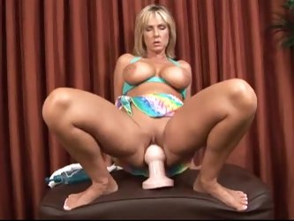 Blonde milf is into extreme toy play