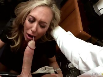 Brandi Love got used to the perks of her duty position, that is why behaves like a real witch with employees. But something happened, and she acts as