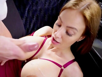 Back seat porn with a married woman with huge tits