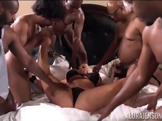 Alura Jenson in My First Interracial Gang Bang! - AluraJensonXXX
