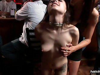 Tegan Tate is super tiny and adorable, but don't let that fool you. This submissive cutie is also a GIANT slut. She has a tattoo under her tit th