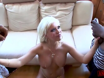 Andi Anderson is a slutty mature blonde who likes to have threesomes with black guys