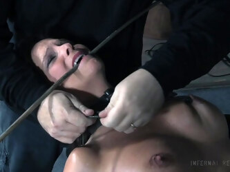 Nasty torture session with busty mature pornstar Syren De Mer