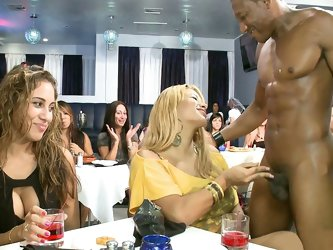 We wanted to give Leesha one more night of wild fun before she got married, and wow did this party deliver! We were able to get about 70 horny girls p