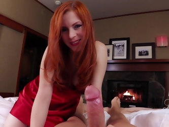 Redhead hooker Lady Fyre takes a massive dick in her wet holes