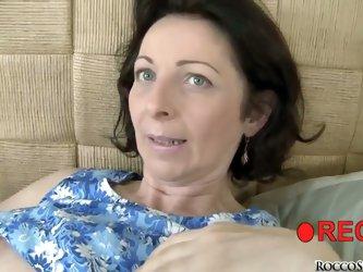 Rocco Siffredi wants to try something special this time. He invites young lass and this pretty middle-aged female and forces them to lick-each other w