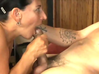 Sexy mature with young stud