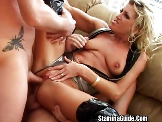 Hot MILF DP threesome