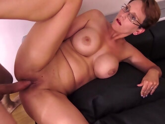 Sexy Busty Housewife Loves A Big Cock Up Her Pussy - MatureNL