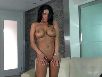 Black haired MILF Dylan Ryder is a beautiful goddess with big tits. She takes off her jugs and ass before she opens her legs to masturbate for your vi