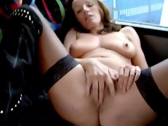 Girl decided to jerk off right on the regular bus