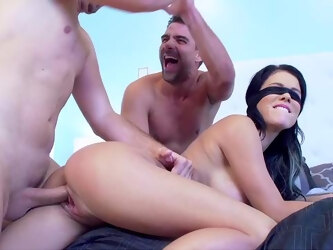 Peta Jensen gets a real workout when entertaining two men