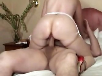 british Milf gets fucked after doing herself with a vibrator.