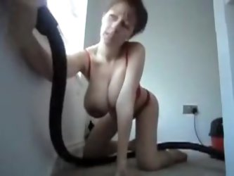 Huge saggy tits wife video. Hot mommy vacuuming home and showing her lovely tits. See more mature amateur
