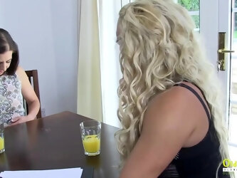 OldNannY Classy Lesbian Interview and Tits Massage