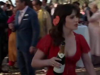 Pregnant Goddess Zooey Deschanel With Gigantic Mommy-Tits