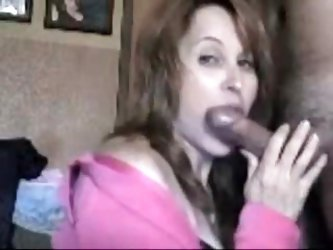 Real mature teacher wife gives spectacular oral-service sex to her husband.