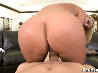 Attractive blonde haired milf Mellaine Monroe with big jugs and adorable bubble butt strips naked and shows off her curves before she takes man meat u