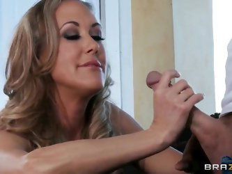 Luxurious big tittied milf Brandi Love is screwing with her baldheaded boyfriend Johnny Sins in this xxx action. See her sucking and stroking penis be