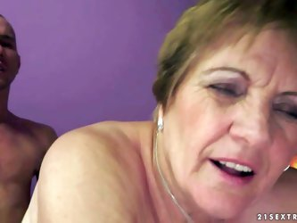 Piros is s nasty granny that gets her hairy wet twat fucked deep and hard by her sex obsessed young lover. He sticks his dick in her many times used m