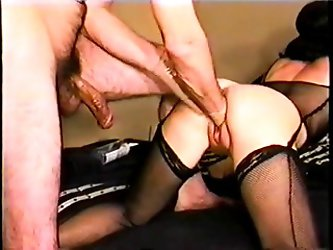 You may have seen the popular clip with  bent over, taking two fists in her pussy, and screaming her head off. Well that comes from this video and now