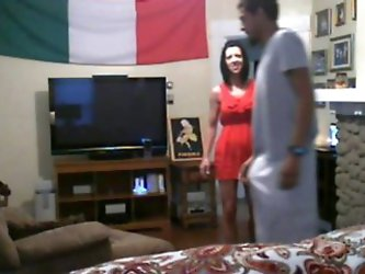 White milf cheats on boyfriend with a bbc on webcam