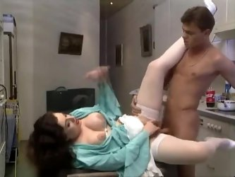 Mature in blouse and stockings fucked deep