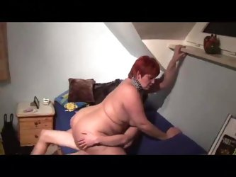 Redhead with a huge ass on top of cock