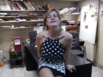 French milf at work