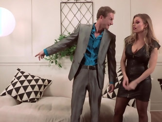 Seasoned snatch Britney Amber licked and fucked by a handsome man