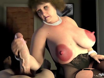 Best Granny 3D Cartoon Ever Big Nipples Hard Pounding