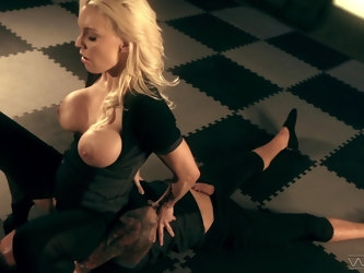 Erotic fucking on the floor of a castle with provocative Kenzie Taylor