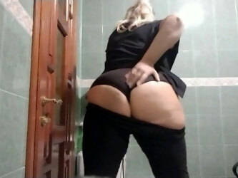 Naked big ass in public toilet Sexy BBW