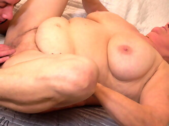 Fat, old and gray haired granny fucked in her room